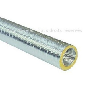 Gaine semi-rigide isolée Aluminium - GCR - T max +300°C - Ø 125, 160, 200, 250 et 315 mm - 2 mètres [- conduits VMC - Atlantic]