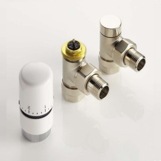 Pack robinetterie thermostatique Equerre - Nickelé [- ACOVA]
