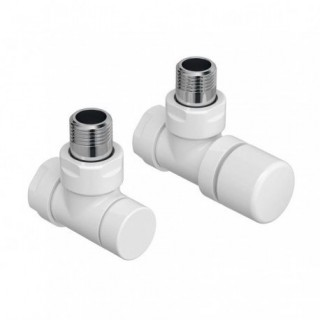 Pack robinetterie manuelle thermostatisable - Coude - Blanc [- ACOVA]