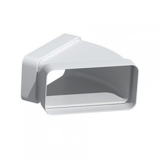 Coude horizontal rectangulaire 45° - CHM [- conduits PVC de Ventilation - Unelvent]