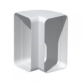 Coude vertical rectangulaire 90° - CVR [- conduits PVC de Ventilation - Unelvent]